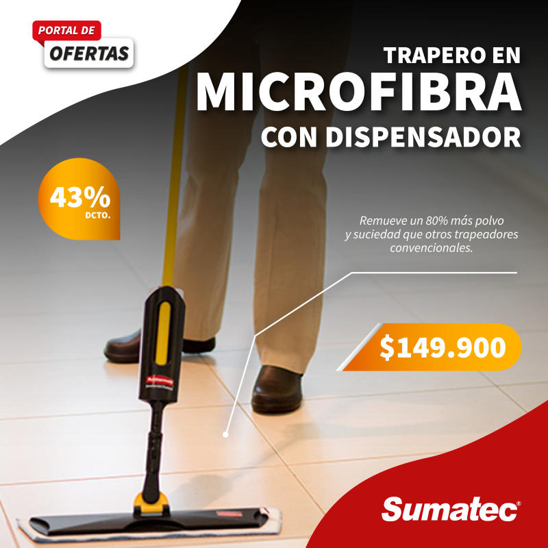 Trapero en microfibra con dispensador