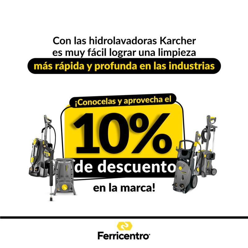 Aprovecha nuestras Hidrolavadoras Karcher con un 10% de dcto