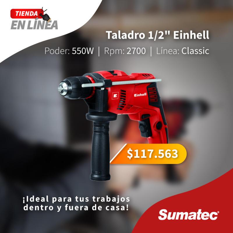 Taladro Th-Id 550 ideal para trabajos dentro y fuera del hogar
